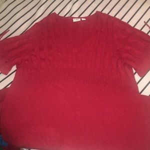 Size 18/20 knee length sweater dress in red